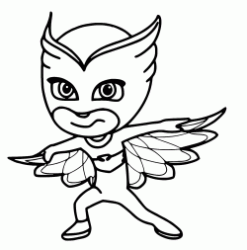 Owlette is able to fly by using Super Owl Wings