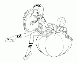 Rose Cinderella sit on the pumpkin
