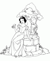 Snow White is waiting at the well