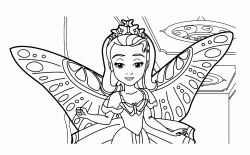 Princess Amber with butterfly wings