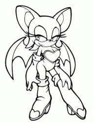 Rouge the Bat with its wings open