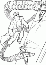 Doctor Octopus uses his tentacles