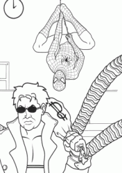 Doctor Octopus with the loot