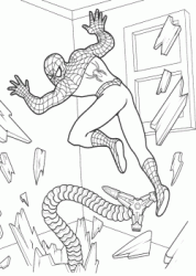 Spiderman attacked by a Doctor Octopus steel tentacle