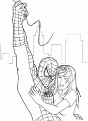 Spiderman salva Mary Jane
