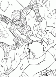 Spiderman strikes Doctor Octopus