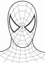 The Spiderman's face