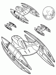 A fleet of ships Vulture droid