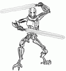 General Grievous pulls out his lightsaber