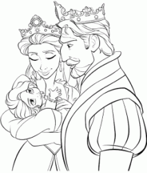 The Kin and the Queen the Rapunzel's parents