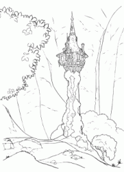 The tower where Rapunzel is imprisoned