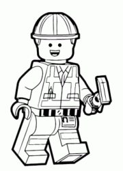 emmett lego movie coloring pages - photo#15
