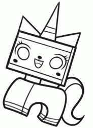 Princess Unikitty a unicorn horned kitten Master Builder