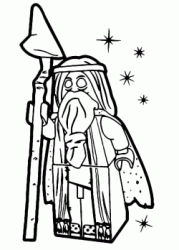 The wizard Vitruvius with his scepter