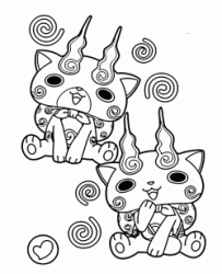 Komasan and Komajiro the two Yo kai together