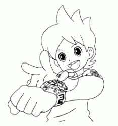 Nate is about to activate the Yo kai watch