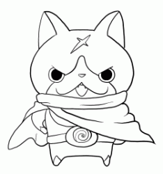 Yo kai Hovernyan with his cloak