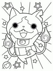 Yo kai Jibanyan is happy