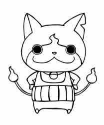 Yo kai Jibanyan with his arms on his hips